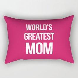 World's Greatest Mom Quote Rectangular Pillow