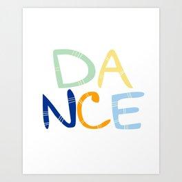 Dance Nursery Art Art Print
