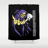 skeletor Shower Curtains featuring Skeletor  by Buby87