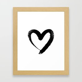 Ink Heart Minimal Fashion Stylish Framed Art Print