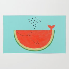 Don't let the seed stop you from enjoying the watermelon Rug