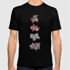 Spikey Friends MEDIUM Black Mens Fitted Tee