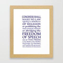 Defend Your Freedom of Speech Framed Art Print