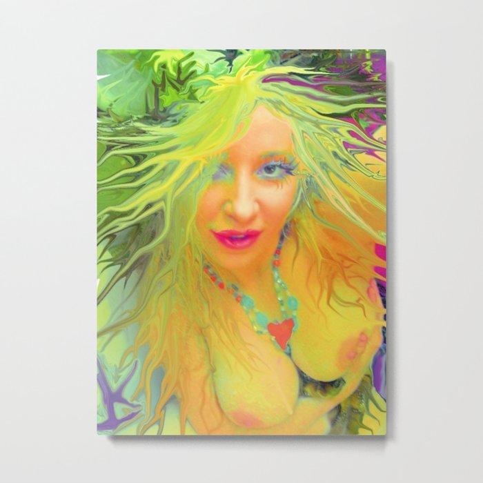 Art,fairy wood nymph,Nude ladykashmir hot ,pink,yellow,i pod,lap top,t shirt,cups,tote ,bags, Metal Print