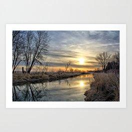 Along The River Bank 3 Art Print