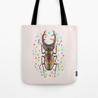 insect Tote Bags featuring INSECT IV by dogooder