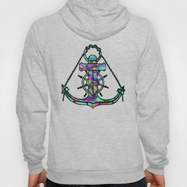 Anchor and Steering Helm [MultiColor] Hoody