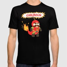 Chiliman MEDIUM Black Mens Fitted Tee