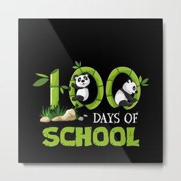 100 Days Of School Gift Motif Metal Print