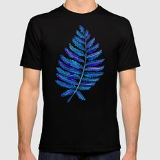 Fern Leaf – Navy Palette X-LARGE Mens Fitted Tee Black