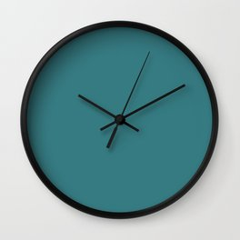 Pacific Blue Teal Trending Color Basic Simple Wall Clock