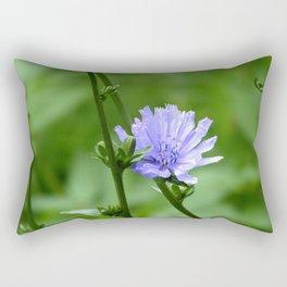 Nature's Garden Purple And Green Rectangular Pillow