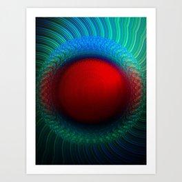 Scarlet Vortex Art Print