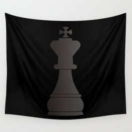 Black king chess piece Wall Tapestry