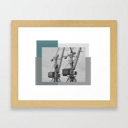 Working giraffe Framed Art Print