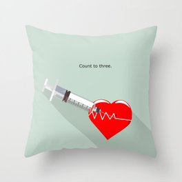 Shot to the heart - Pulp fiction Overdose Needle Scene needle for injection  Throw Pillow