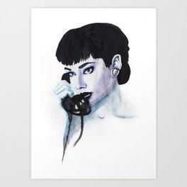 Audrey Is Calling Art Print
