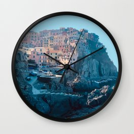 Little Boxes on the Hillside - Cinque Terre Wall Clock