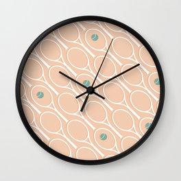 Pink Tennis #society6 #decor #buyart Wall Clock