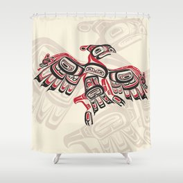 Salish Thunderbird Shower Curtain