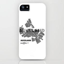 Auckland Map iPhone Case