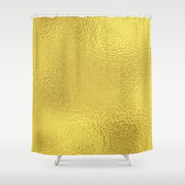 Simply Metallic in Yellow Gold Shower Curtain