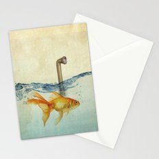 periscope goldfish Stationery Cards