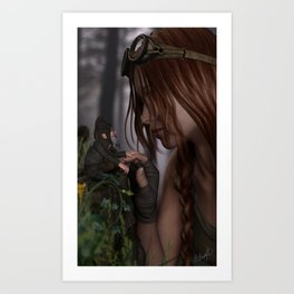 While Exploring Art Print