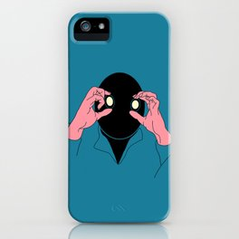 Staring is Scaring iPhone Case