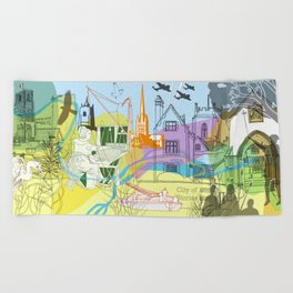 Norwich- City of Stories Beach Towel