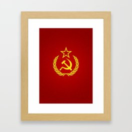 Hammer and Sickle Textured Flag Framed Art Print
