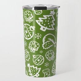 XMAS Green Pattern / Part One Travel Mug