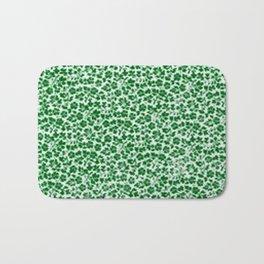 Green Vintage Flowers Bath Mat