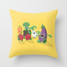 EAT VEGGIES Throw Pillow