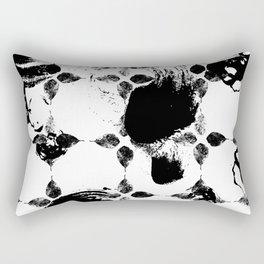 Black and white leaves Rectangular Pillow