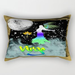 Virgo Birth Sign Rectangular Pillow