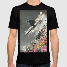 Spring Skiing X-LARGE Black Mens Fitted Tee