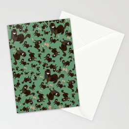Shy european mink pattern Stationery Cards