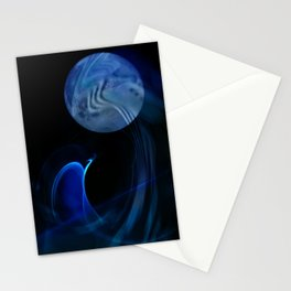 Dolphin Abstract Stationery Cards