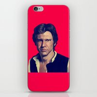 han solo iPhone & iPod Skins featuring Han Solo  by Jemma Klein