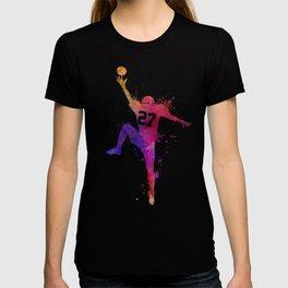 american football player man catching receiving silhouette T-shirt