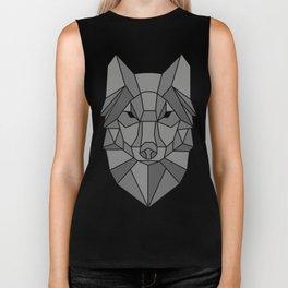 Geometric wolf Biker Tank
