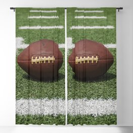 American Football Court with ball on Gras Blackout Curtain