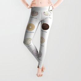 Donut types Leggings