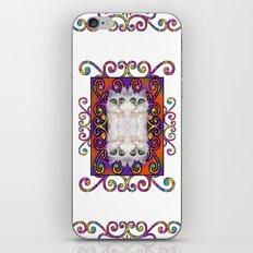 CAT DAMASK ARABESQUE WHITE iPhone & iPod Skin