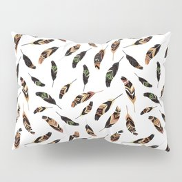 Feathers seamless pattern, vector illustration Pillow Sham