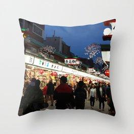 Tokyo Street Throw Pillow