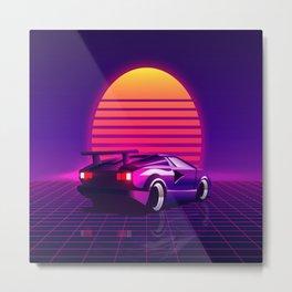 80's sunset Metal Print