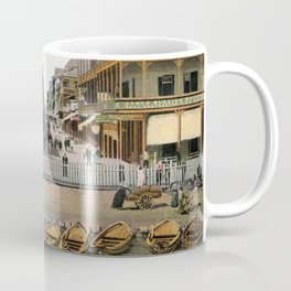 Vintage Egypt, port Said Commerce Street Coffee Mug