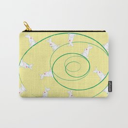 The Funny Bunnies in Lemon Yellow Carry-All Pouch